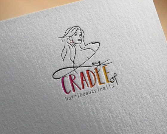 Cradle of Hair, Beauty & Nails Logo Design